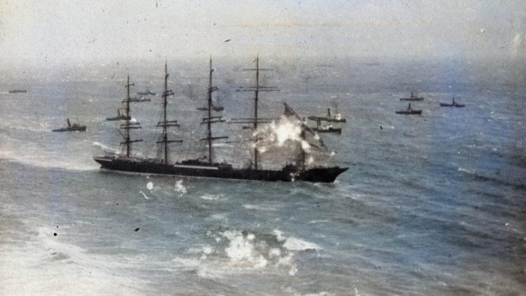 Preussen After Collision 1910
